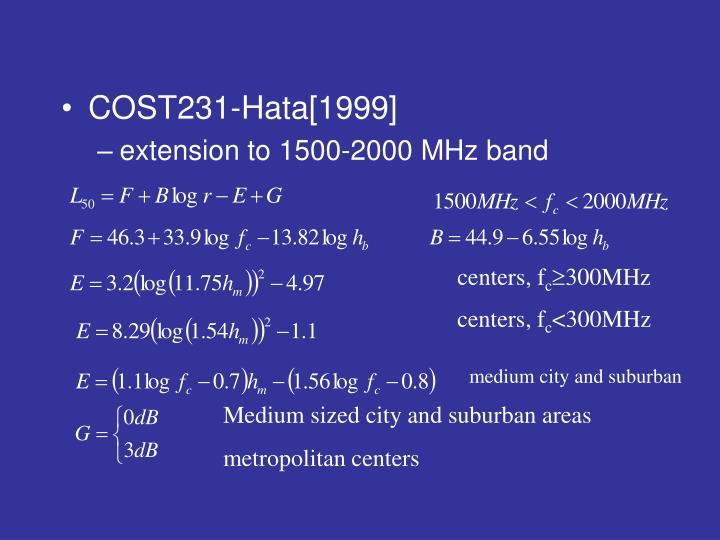 COST231-Hata[1999]