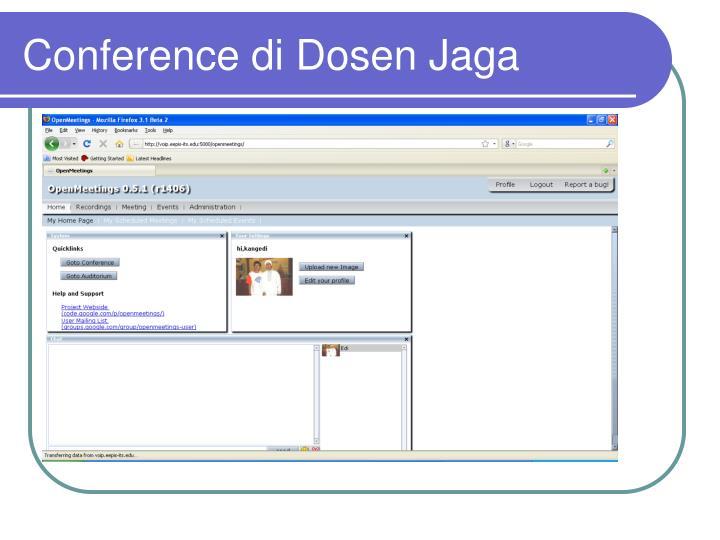 Conference di Dosen Jaga