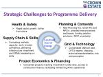 strategic challenges to programme delivery
