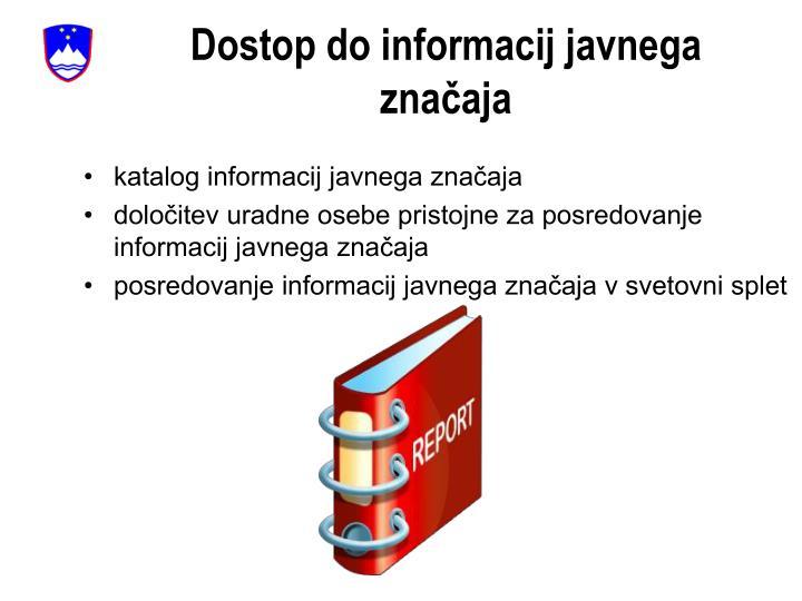 Dostop do informacij javnega značaja
