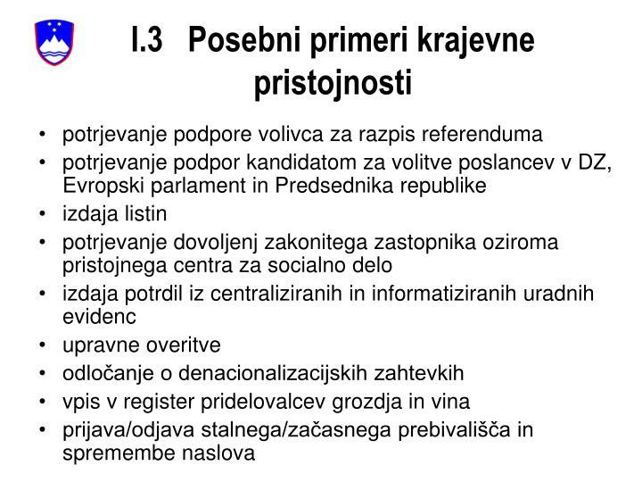 I.3   Posebni primeri krajevne