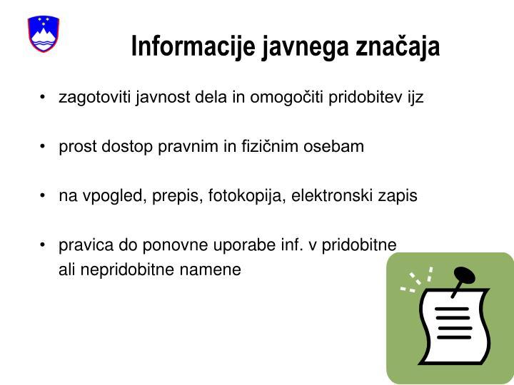 Informacije javnega značaja