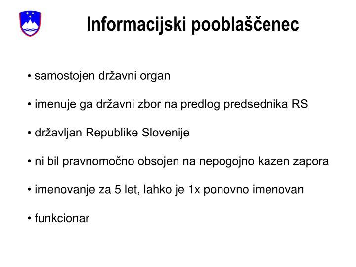 Informacijski pooblaščenec