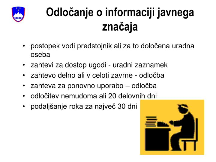 Odločanje o informaciji javnega značaja