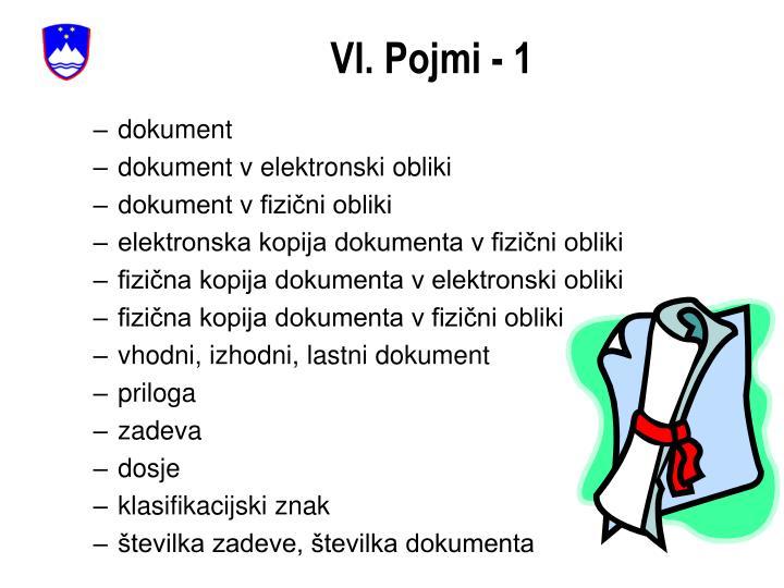 VI. Pojmi - 1