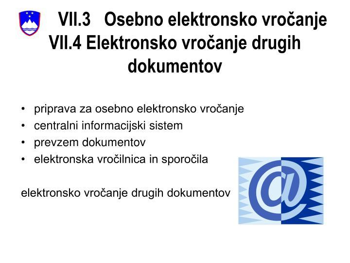 VII.3   Osebno elektronsko vročanje