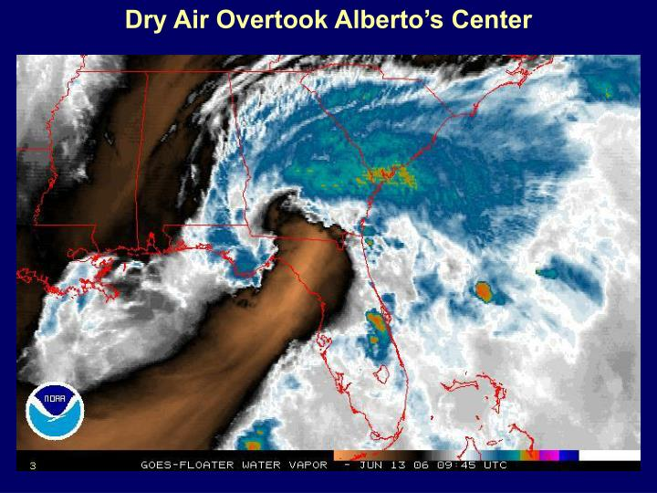 Dry Air Overtook Alberto's Center