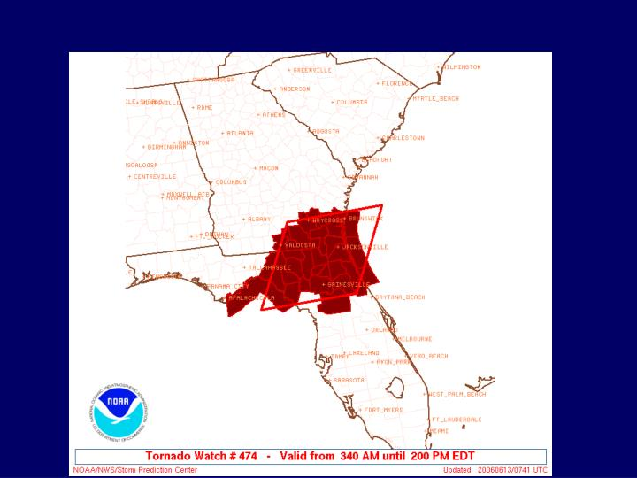 Tornado Watch through 2 PM