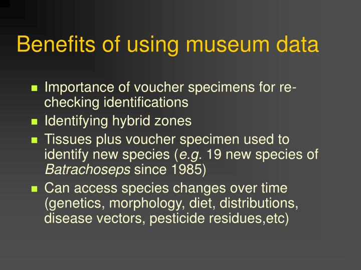 Importance of voucher specimens for re-checking identifications