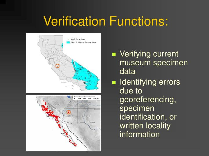 Verification Functions: