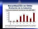 securitizaci n en chile evoluci n de la industria