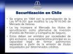 securitizaci n en chile