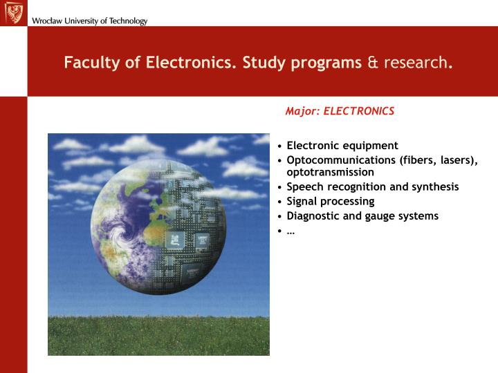Faculty of Electronics. Study programs