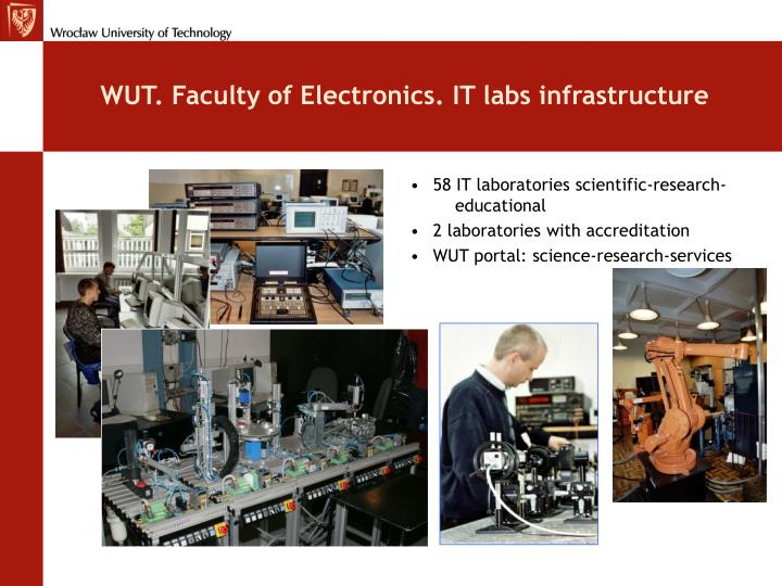 WUT. Faculty of Electronics. IT labs infrastructure