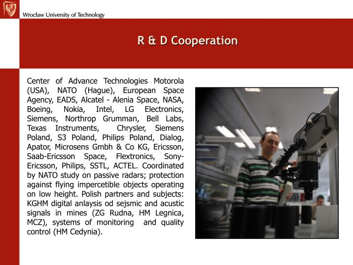 R & D Cooperation