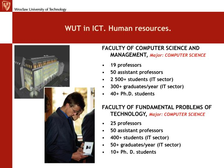 WUT in ICT. Human resources.