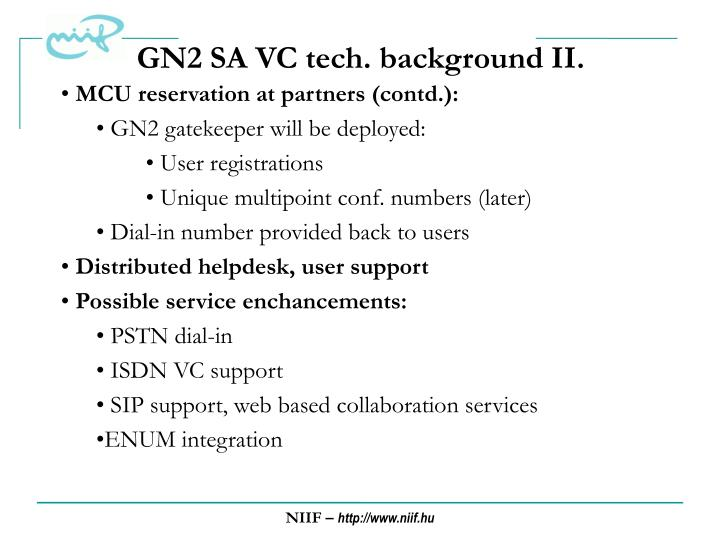 GN2 SA VC tech. background II.