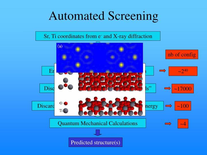 Automated Screening