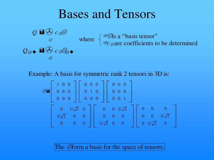 Bases and Tensors
