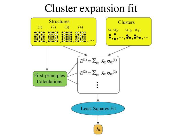 Cluster expansion fit