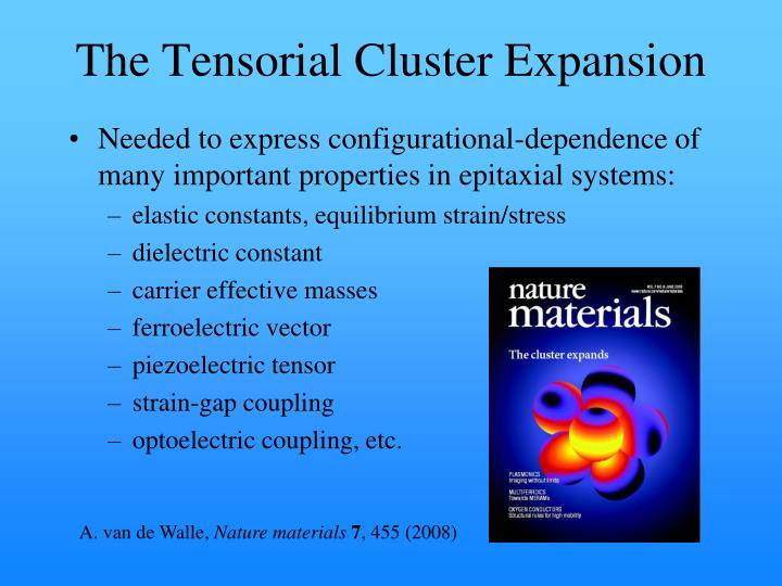 The Tensorial Cluster Expansion