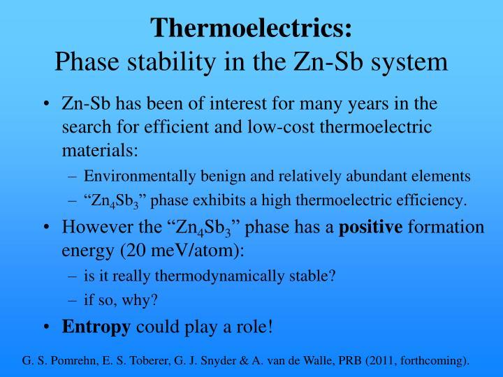 Thermoelectrics: