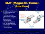 mjt magnetic tunnel junction