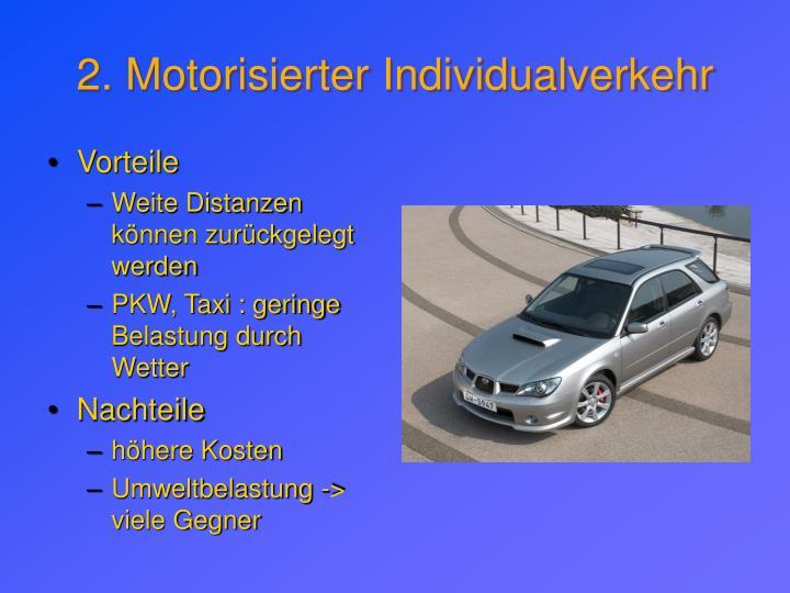 2. Motorisierter Individualverkehr