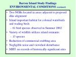 barren island study findings environmental conditions continued