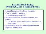 james island study findings hydrodynamics sedimentation