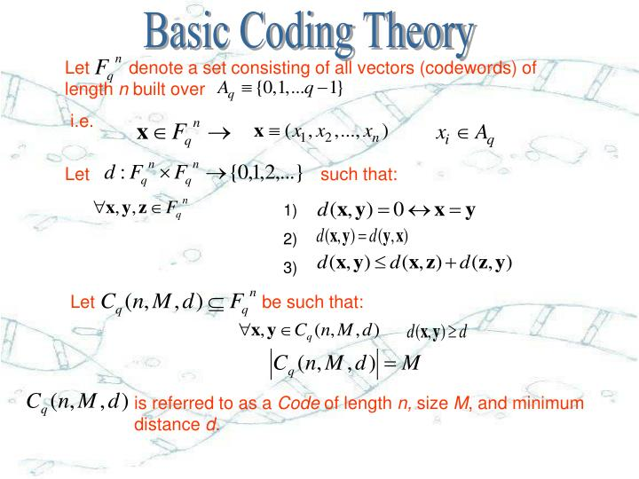 Basic Coding Theory