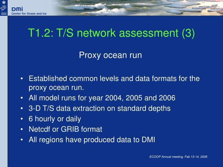 T1.2: T/S network assessment (3)