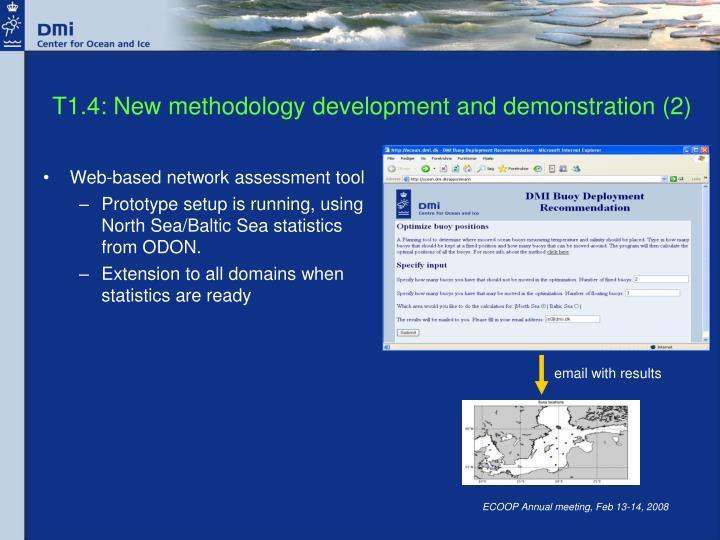 T1.4: New methodology development and demonstration (2)