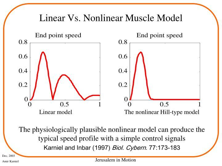 Linear Vs. Nonlinear Muscle Model