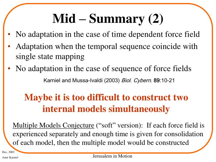 Mid – Summary (2)
