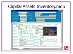 capital assets inventory mdb