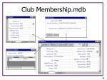 club membership mdb