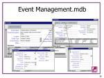 event management mdb