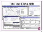 time and billing mdb