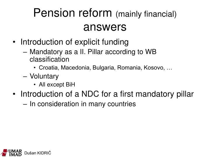 Pension reform