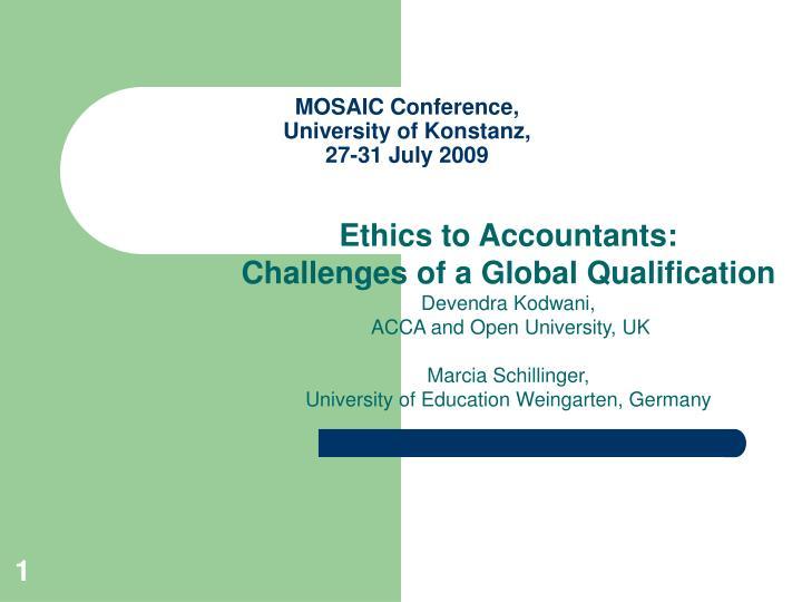 Mosaic conference university of konstanz 27 31 july 2009
