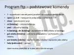 program ftp podstawowe komendy