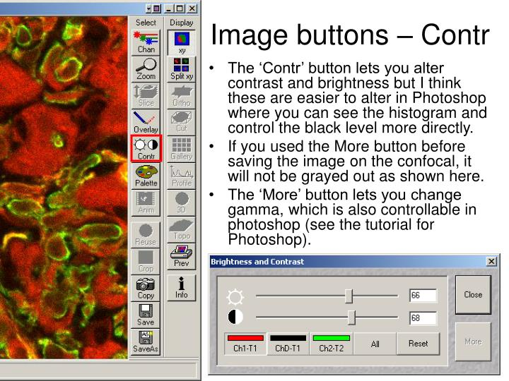 Image buttons – Contr