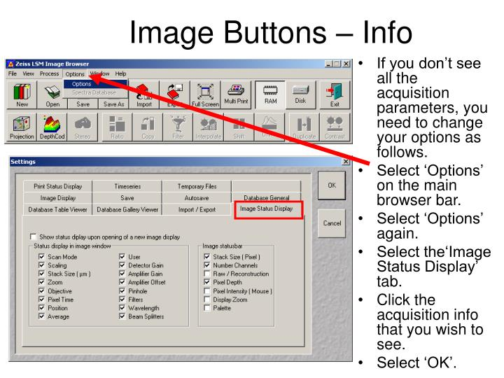 Image Buttons – Info