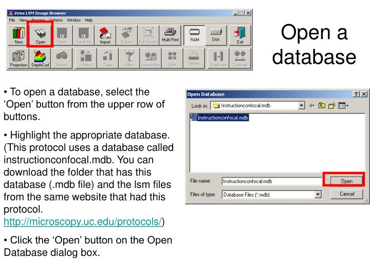 Open a database