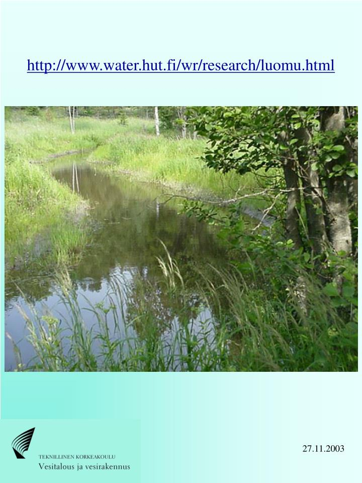 http://www.water.hut.fi/wr/research/luomu.html