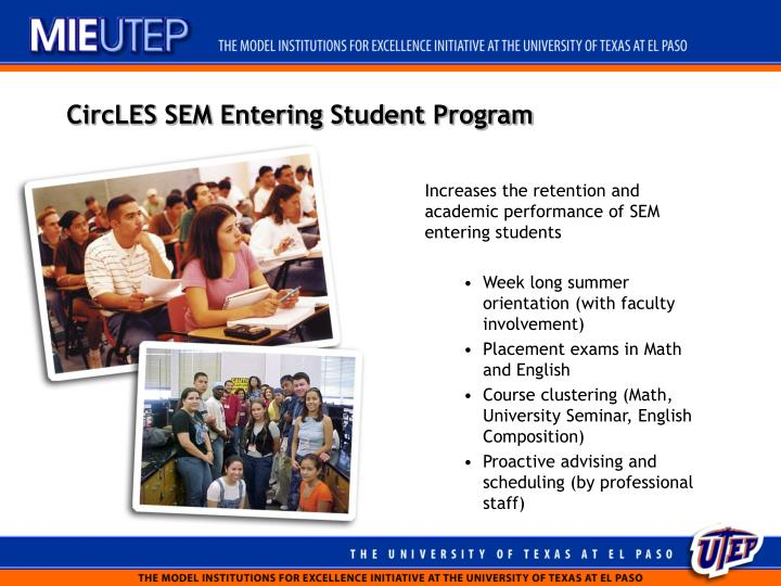 CircLES SEM Entering Student Program