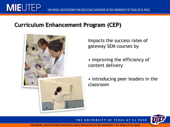 Curriculum Enhancement Program (CEP)
