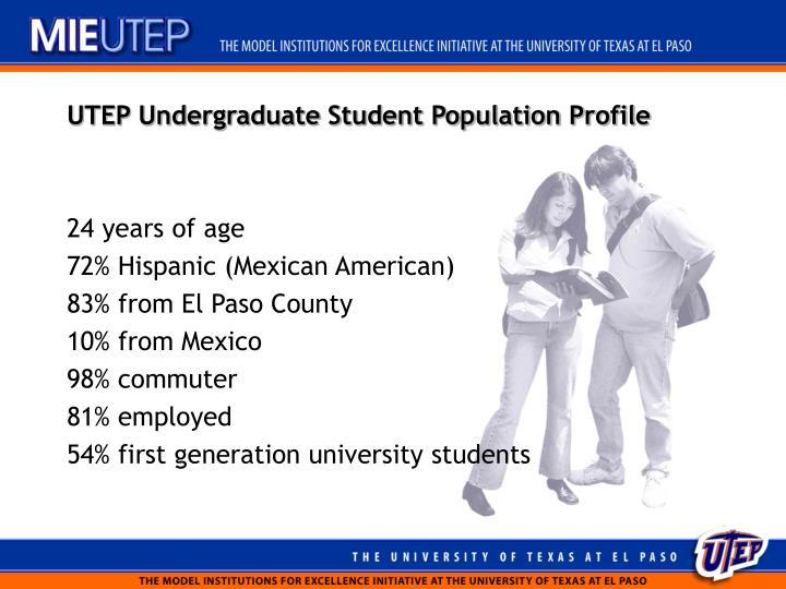 Utep undergraduate student population profile