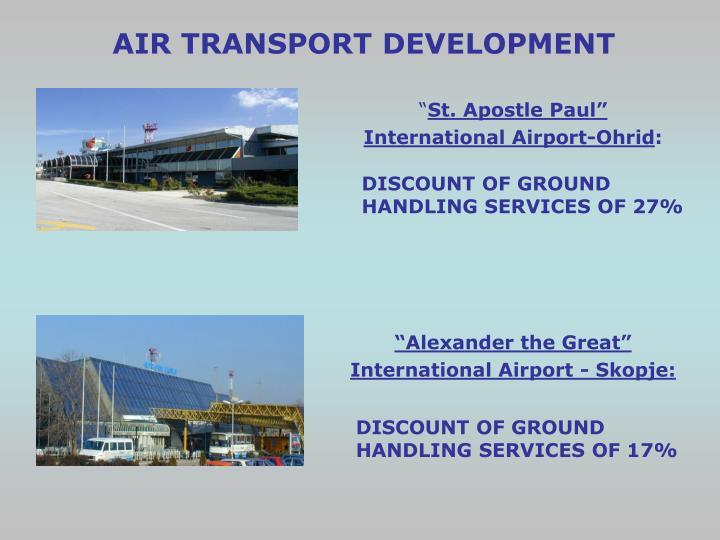 AIR TRANSPORT DEVELOPMENT